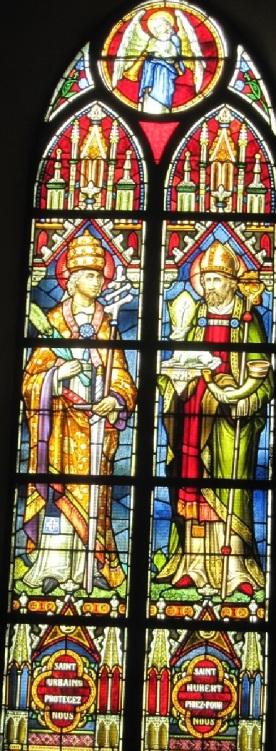 Vitrail de St Urbain et St Hubert
