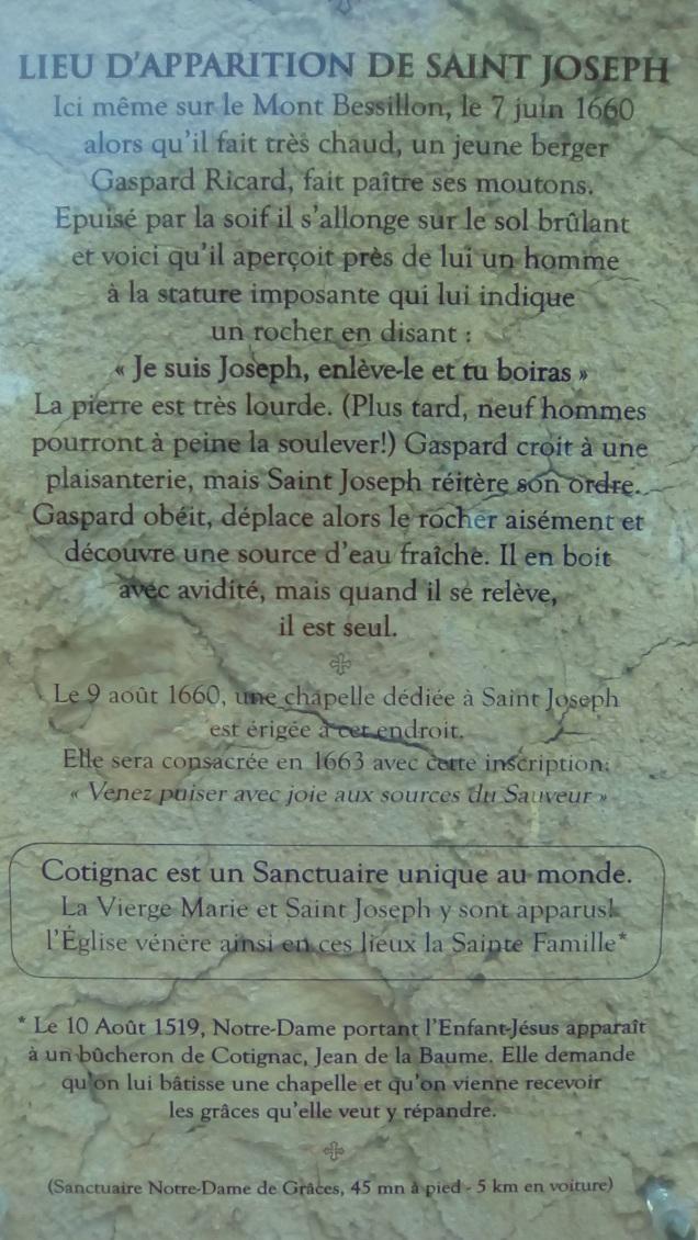 COTIGNAC - la source de st. Joseph